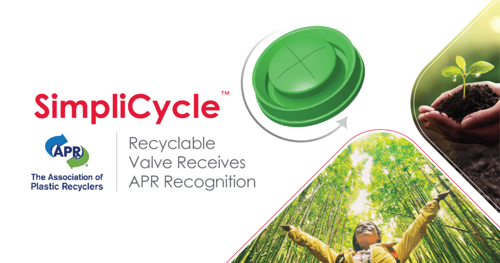 SimpliCycle recyclable valve receives APR recognition